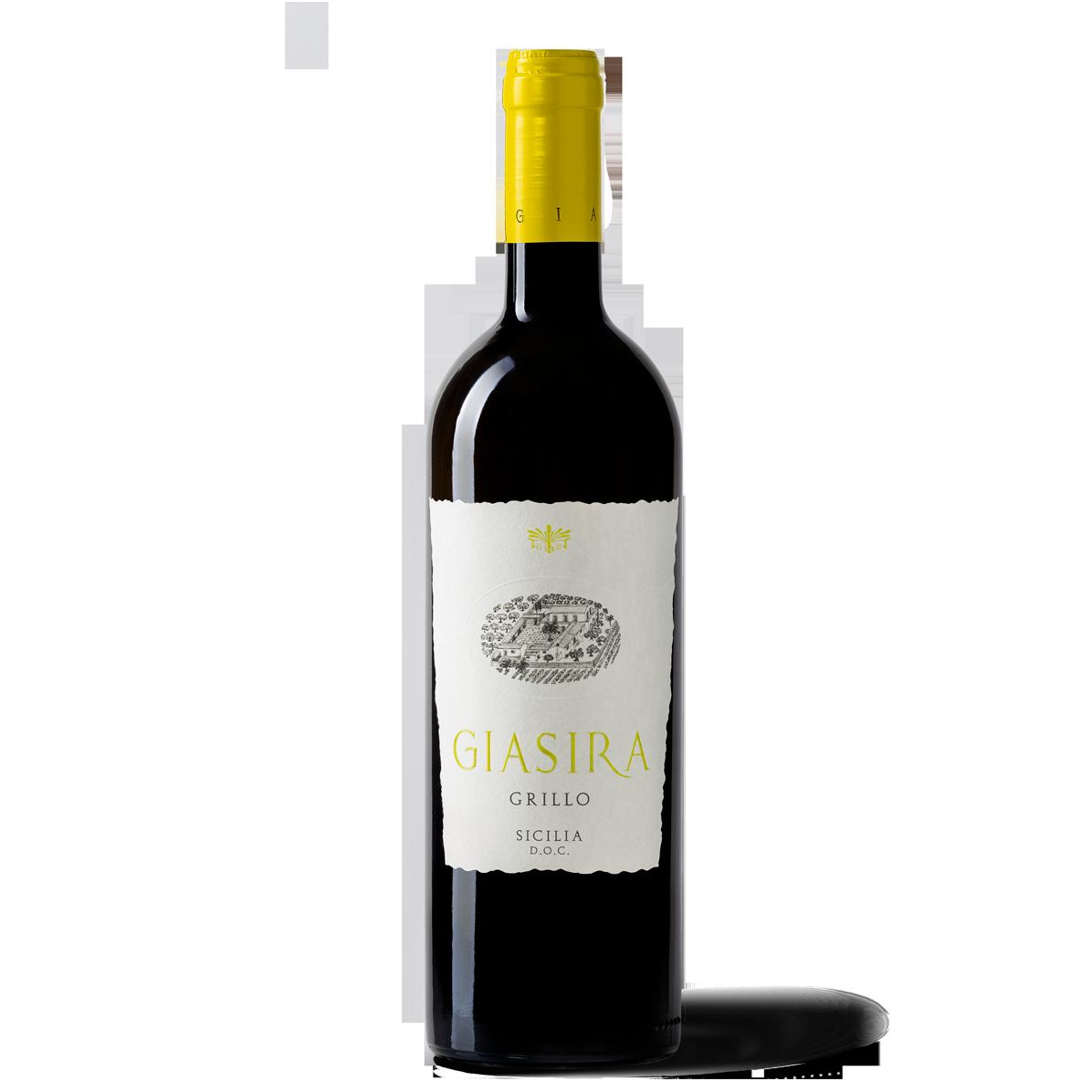 Grillo 100% ottenuto da uve Grillo, vitigno autoctono siciliano - La Giasira